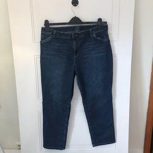 J Jill Tried&True Fit Cropped Jeans Size 14